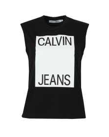 Calvin Klein Jeans Womens Black Muscle Top
