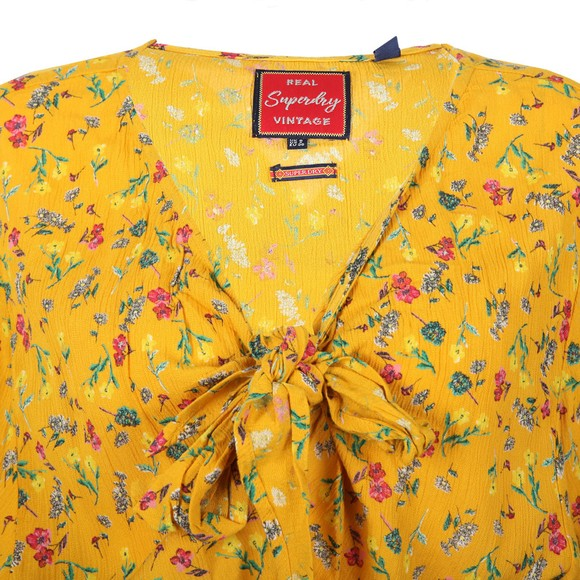 Superdry Womens Yellow Allegra Playsuit main image