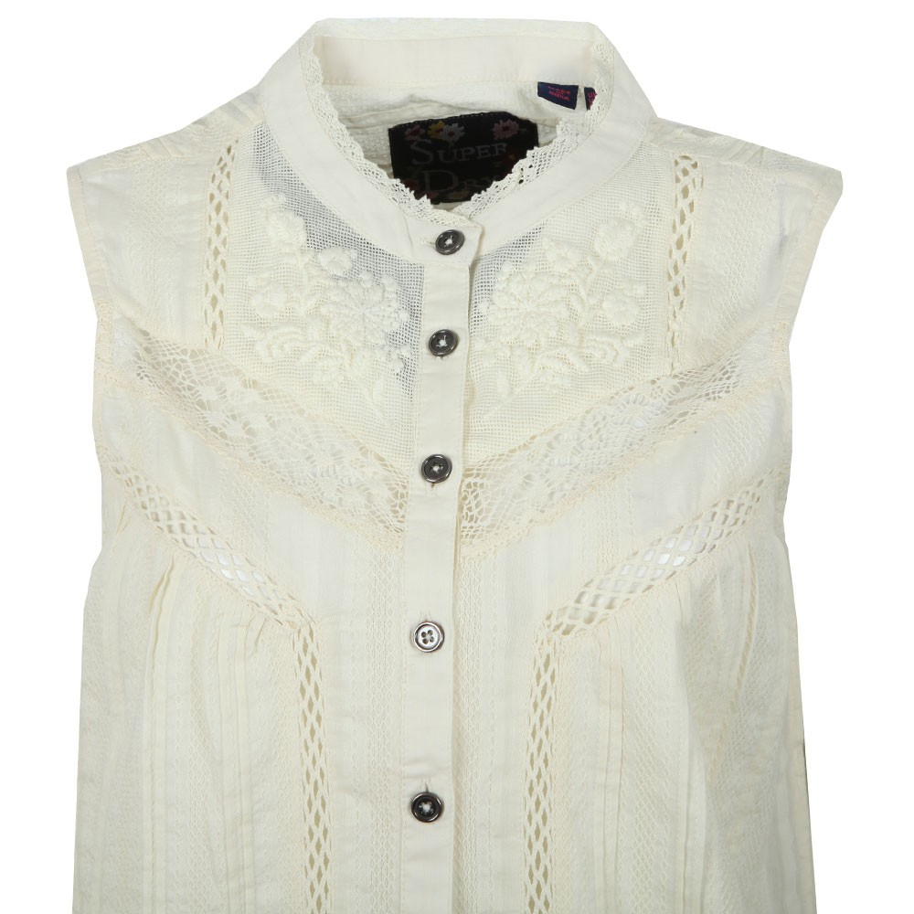 Lace Mixing Sleeveless Shirt main image