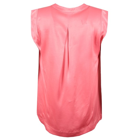 Maison Scotch Womens Pink Pleated Sleeveless Top main image