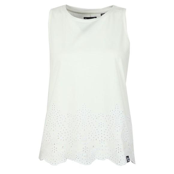Superdry Womens White Lara Broderie Vest main image