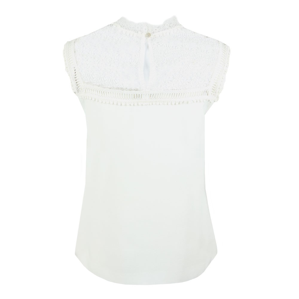 Clairy Lace Detail Ruffle Top main image
