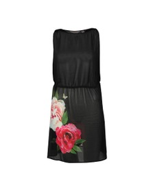 Ted Baker Womens Black Velrano Magnificent Tie Waist Cover Up
