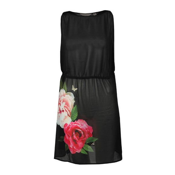 Ted Baker Womens Black Velrano Magnificent Tie Waist Cover Up main image
