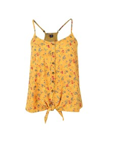 Superdry Womens Yellow Emilie Tie Knot Cami