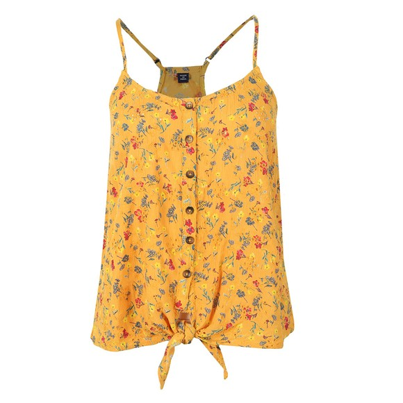Superdry Womens Yellow Emilie Tie Knot Cami main image