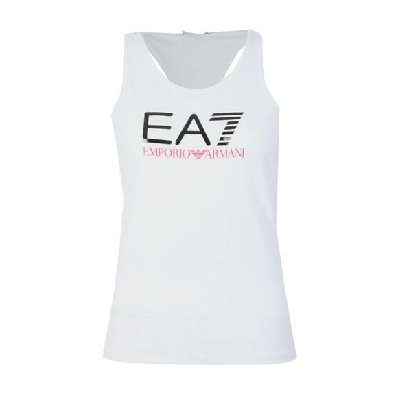 EA7 Emporio Armani Womens White Logo Tank Top main image