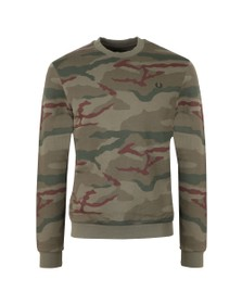 Fred Perry X Arktis Mens Green Camo Sweat