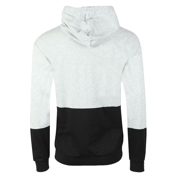 BOSS Bodywear Mens Grey Black Logo Authentic Hoody main image