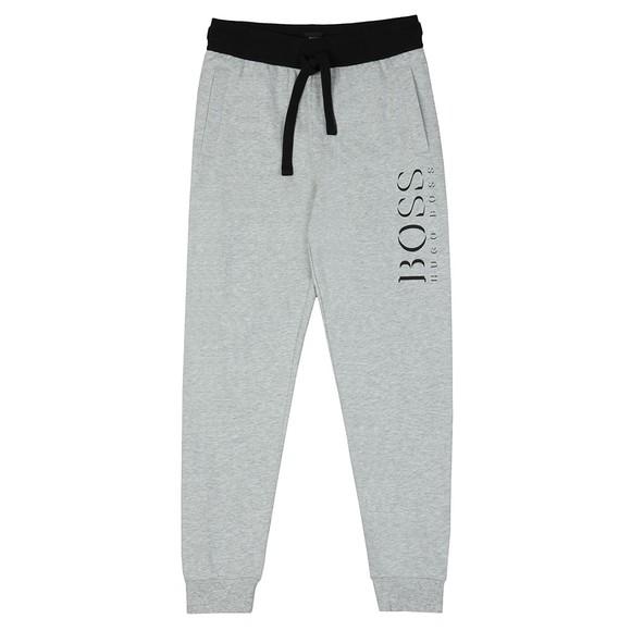 BOSS Bodywear Mens Grey Black Logo Authentic Jogger main image