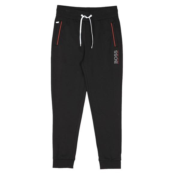 BOSS Bodywear Mens Black Piping Detail Jogger main image