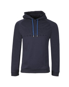 BOSS Bodywear Mens Blue Heritage Sweatshirt Hoody