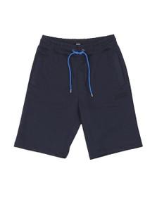 BOSS Bodywear Mens Blue Heritage Jersey Shorts
