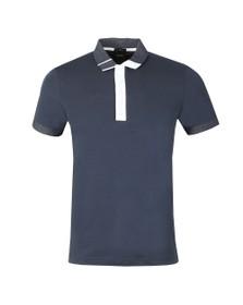 BOSS Mens Blue Athleisure Paule 2 Polo Shirt