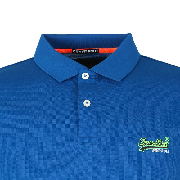 Superdry Mens Blue Mercerised Lite City Polo main image