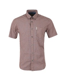 Ben Sherman Mens Orange S/S Gingham Check Shirt