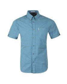 Ben Sherman Mens Blue S/S Check Gingham