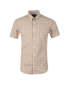 Ben Sherman Mens Orange S/S Check Gingham