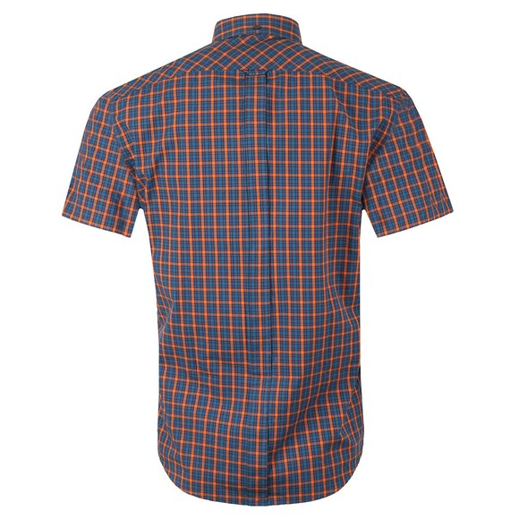 Ben Sherman Mens Orange S/S Gingham Check Shirt main image