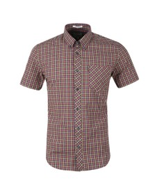 Ben Sherman Mens Pink S/S Gingham Check Shirt