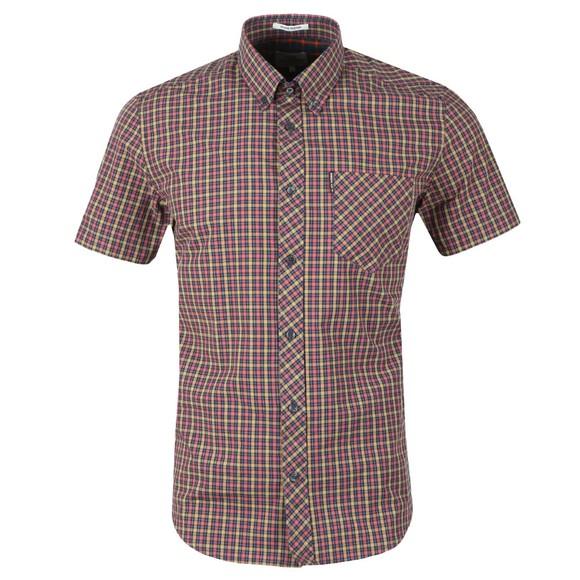 Ben Sherman Mens Pink S/S Gingham Check Shirt main image