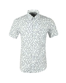 Ben Sherman Mens Off-White S/S Print Shirt