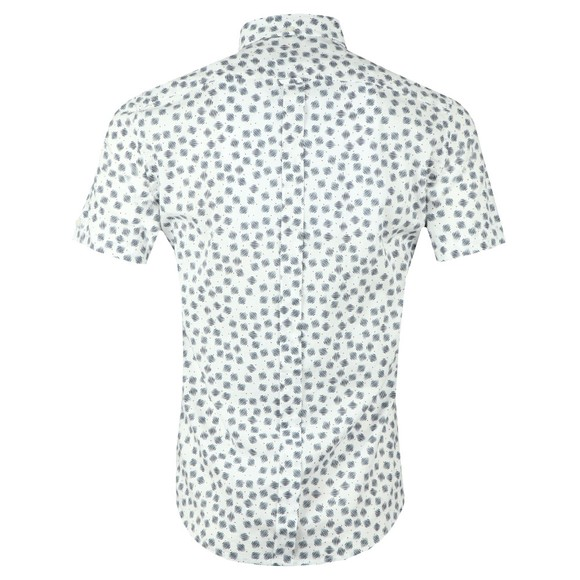 Ben Sherman Mens Off-White S/S Print Shirt main image