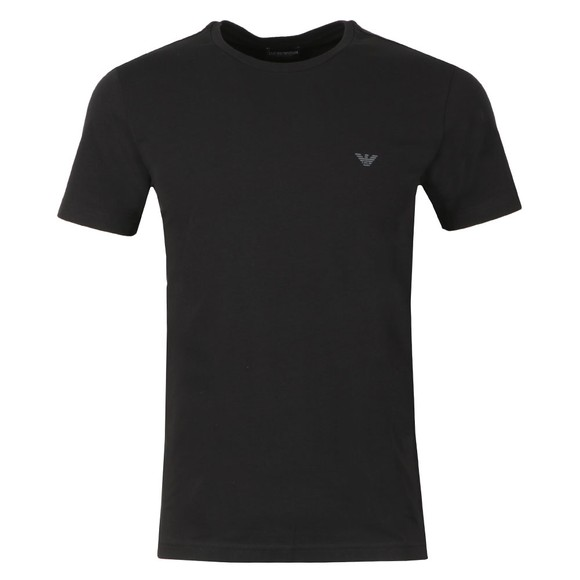 Emporio Armani Mens Black Small Logo Swim T Shirt main image