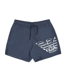 Emporio Armani Mens Blue Large Logo Swim Shorts