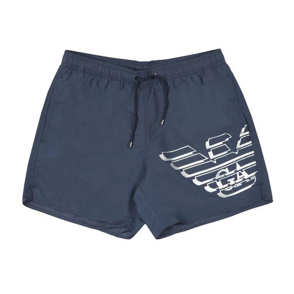 Emporio Armani Mens Blue Large Logo Swim Shorts main image