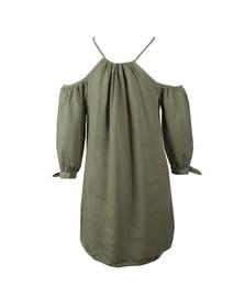 Superdry Womens Green Eden Cold Shoulder Dress