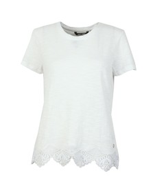 Superdry Womens White Morocco Lace Hem Tee