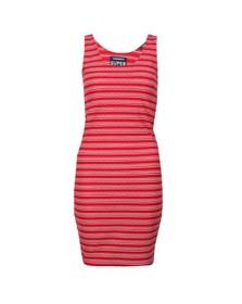 Superdry Womens Pink Sienna Chevron Textured Mini Dress