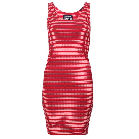 Superdry Womens Pink Sienna Chevron Textured Mini Dress main image