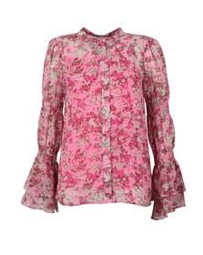 Michael Kors Womens Pink Enchanted Bloom Top