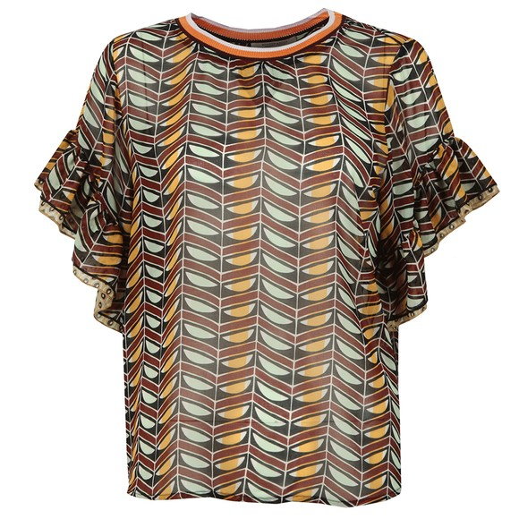 Maison Scotch Womens Multicoloured Mixed Print Top