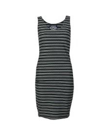Superdry Womens Blue Sienna Chevron Textured Mini Dress