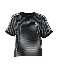 adidas Originals Womens Black 3 Stripes Tee