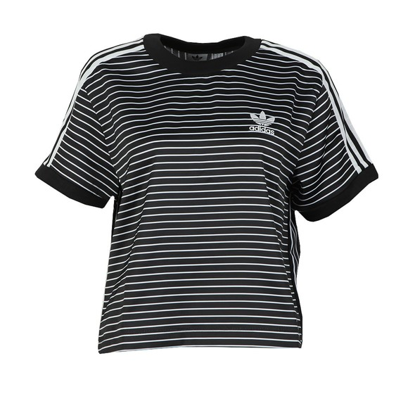 adidas Originals Womens Black 3 Stripes Tee main image