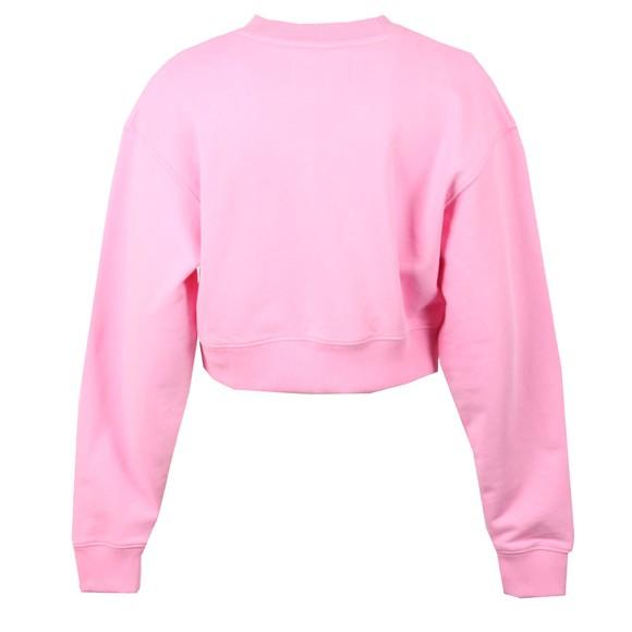 Calvin Klein Jeans Womens Pink Cropped Calvin Jeans Sweatshirt main image