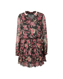 Maison Scotch Womens Black Printed Dress