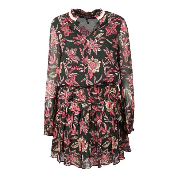 Maison Scotch Womens Black Printed Dress main image