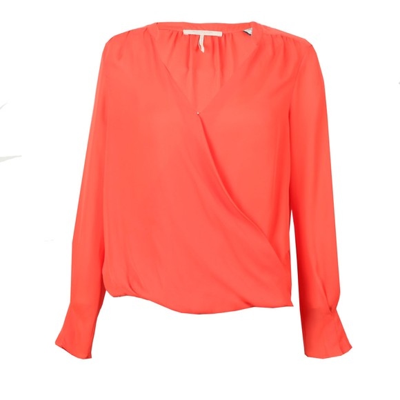 Maison Scotch Womens Orange Crossover V-Neck Top main image