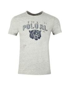Polo Ralph Lauren Mens Grey Tiger Logo T Shirt