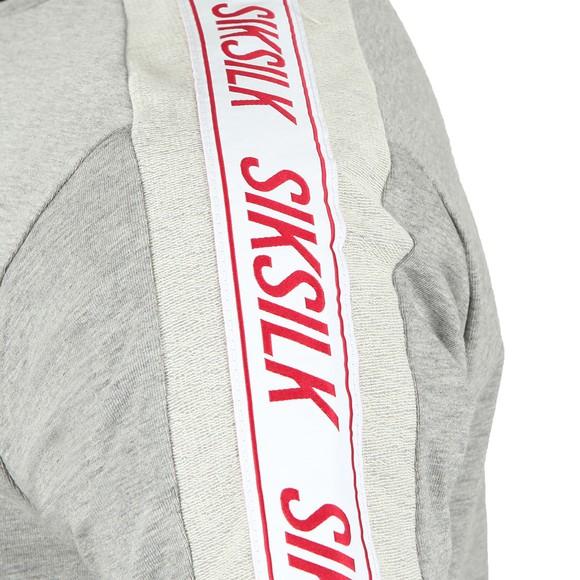 Sik Silk Mens Grey S/S Tape Gym Tee main image