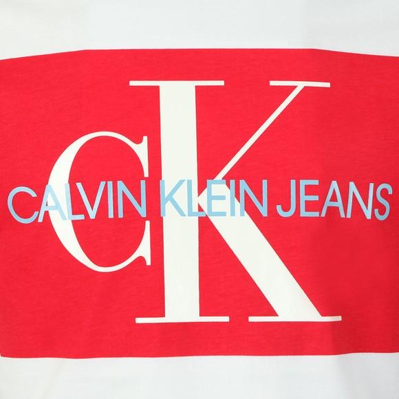 Calvin Klein Jeans Mens White Monogram Box Tee main image