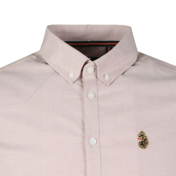 Luke 1977 Mens Pink Jimmy Stretch Shirt main image