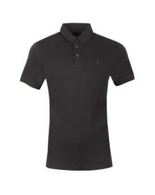 Luke Mens Black Gentry Knitted Collar Polo