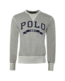 Polo Ralph Lauren Mens Grey Large Logo Sweatshirt