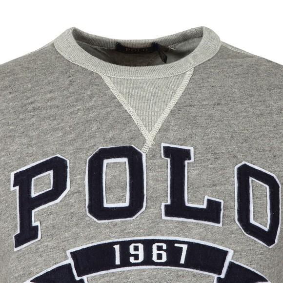 Polo Ralph Lauren Mens Grey Large Logo Sweatshirt